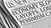 picture of billion  - A newspaper documents the economic pessimisim in March of 2009 as layoffs foreclosure stock market meltdown unemployment all come to bear at once - JPG