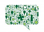 Go Green Speech Bubble