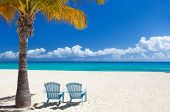 stock photo of caribbean  - Perfect Caribbean beach on Anguilla island - JPG