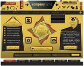 Yellow website template