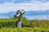 Постер, плакат: Телескоп для туристов в сигнал де буги Швейцария