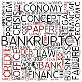 Word cloud - bankruptcy