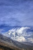Lhotse (8516m) and Mount Everest (8848m) as seen from Ama Dablam Basecamp, Himalayas, Nepal
