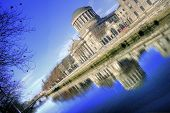 image of neoclassical  - River Liffey and Four Courts building in Dublin  - JPG