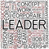 Word cloud - leader
