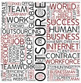 Word cloud - outsource