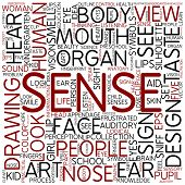 Word cloud - sense