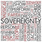Word cloud - sovereignty