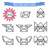Mail delivery icons