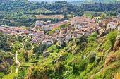 Panoramic view of Tursi. Basilicata. Southern Italy.