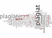 pic of plagiarism  - Word Cloud  - JPG