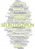 Word cloud -  Word cloud - self-discipline