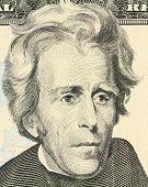 Macro portrait of President Andrew Jackson
