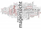 Word cloud - anorexia