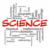 stock photo of criminology  - Science Word Cloud Concept in red caps with great terms such as biology earth ecology natural and more - JPG