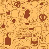 Vector kitchen seamless pattern