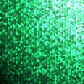 Emerald green blinking glitter background.Glittering sequins mosaic pattern.