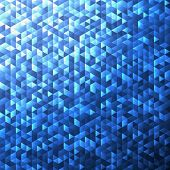 Blue blinking glitter background.Glittering sequins mosaic pattern.