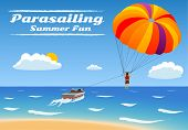 stock photo of parasailing  - Parasailing  - JPG
