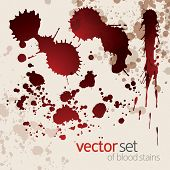 Splattered Blood Stains Set