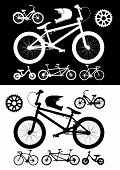 Bike equipment set. Vector