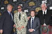 LOS ANGELES - JAN 7:  Tim Robbins, Will Ferrell, Haley Joel Osment, Steve Tom at the IFC's