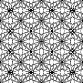 Design Seamless Monochrome Decorative Pattern. Abstract Trellis Background
