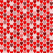 Design Seamless Colorful Heart Pattern.