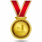 Number One Quality Gold Medal