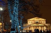 Holiday Illumination In Moscow Street Near The Bolshoi Theatre