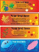 Four Autumn Banners
