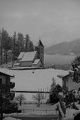 Alpine Church, Falera, Swiss Alps