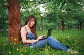 Woman Ans Netbook