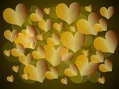 Background with hearts.