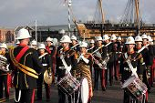 The royal marines marching band