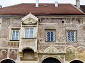 main square of harrows castle in lower austria, austria.