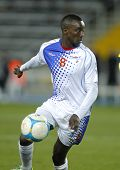 BARCELONA - DEC, 30: Kaapverdië speler Tony Varela in actie tijdens de vriendschappelijke wedstrijd tussen kat