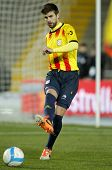 BARCELONA - DEC, 30: Catalan player Gerard Pique of FC Barcelona in action during the friendly match