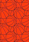 Basketball repeat pattern.