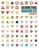 Set of colorful editable business symbols | business concepts | geometric shapes | decoration | tech