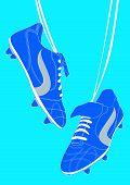 Blue Football Shoes.eps