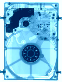picture of x-files  - Hard disk under the X - JPG