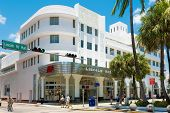 MIAMI,USA - MAY 20,2014 : View of the Lincoln Road Boulevard in South Beach near the former Lincoln Theater