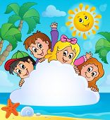 Summer holidays theme image 1 - eps10 vector illustration.