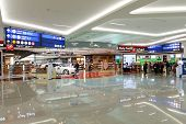DUBAI, UAE - MARCH 31: airport interior on March 31, 2014 in Dubai. Dubai International Airport is a