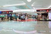 DUBAI, UAE - MARCH 31: duty free zone in airport on March 31, 2014 in Dubai. Dubai International Air