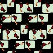 seamless tiled vector pattern of birds