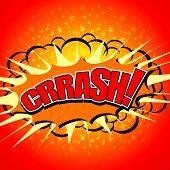 krash! - Comic Speech Bubble, Cartoon.