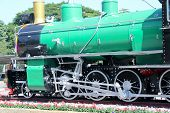 CHIANGMAI THAILAND - DECEMBER 18 2013: Old steam locomotive no.340 of State railway of Thailand. Pho