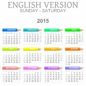 2015 Crayons Calendar English Version